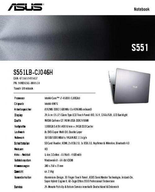 ASUS VivoBook V551