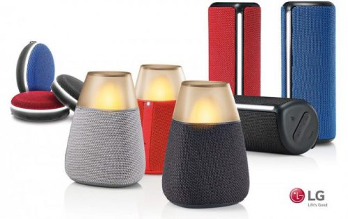 LG анонсировала стильные Bluetooth-колонки